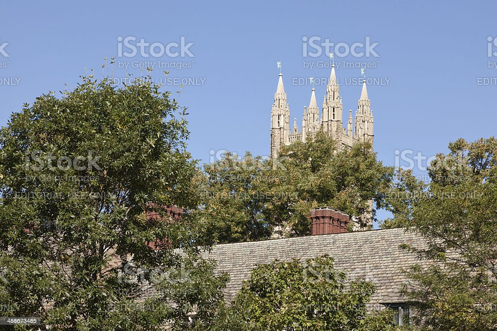 Princeton University, Holder Hall Tower stock photo