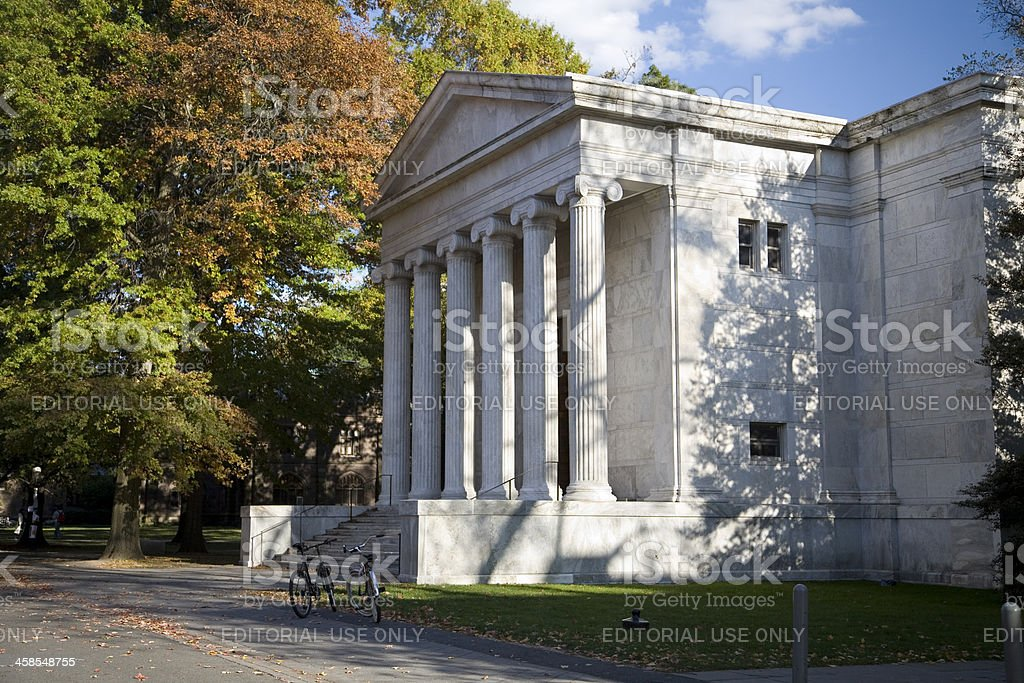 Princeton University's Whig Hall stock photo