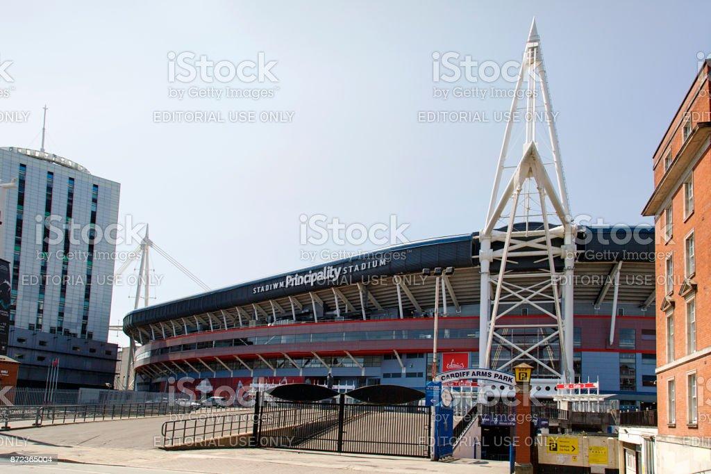 Principality Stadium Cardiff stock photo