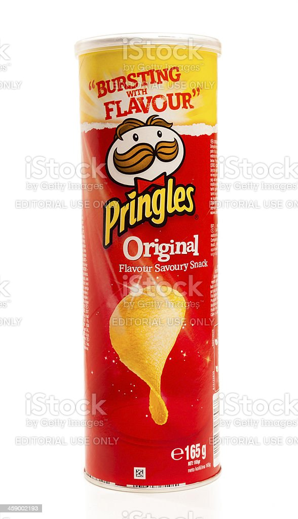 Pringles original potato chips royalty-free stock photo