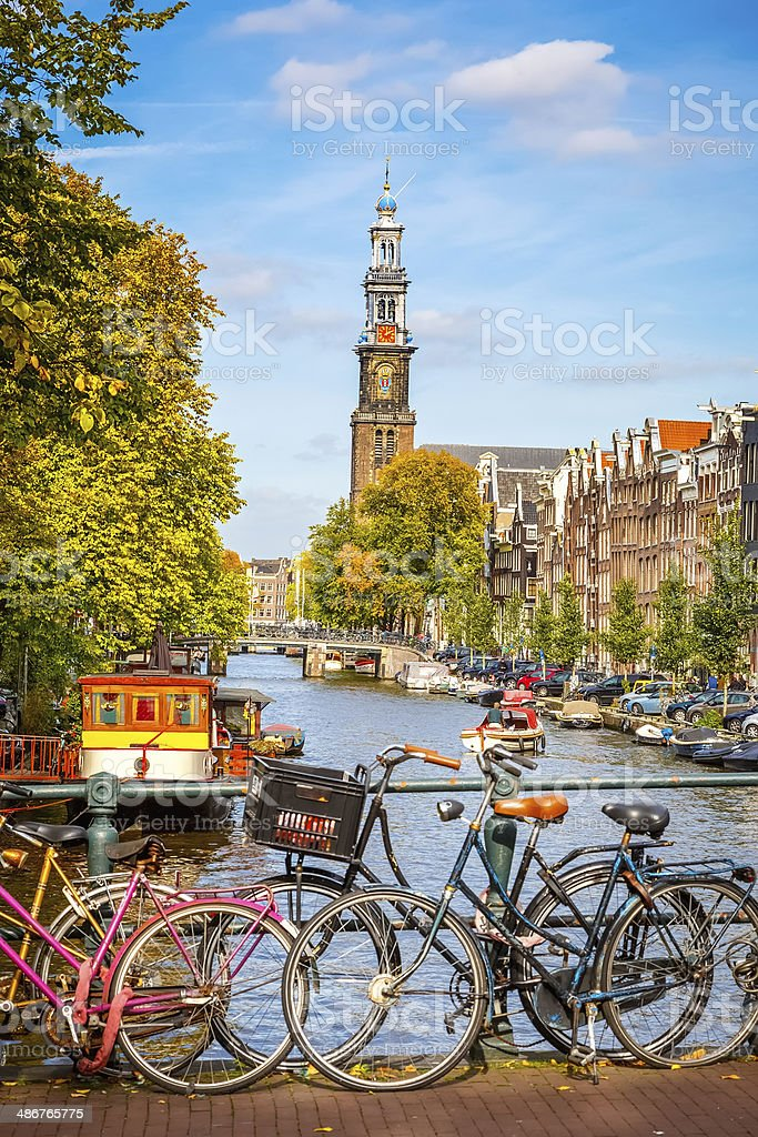 Prinsengracht canal in Amsterdam foto