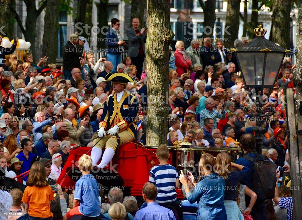 Prinsjesdag the Hague stock photo