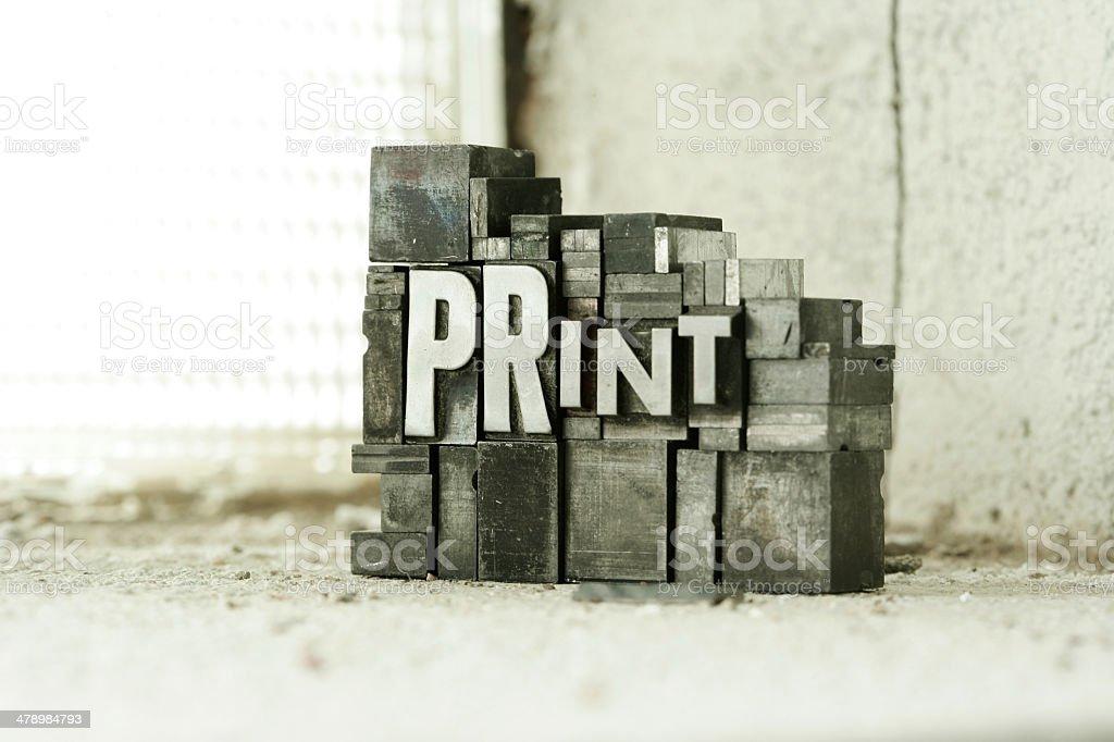 Print Blocks stock photo