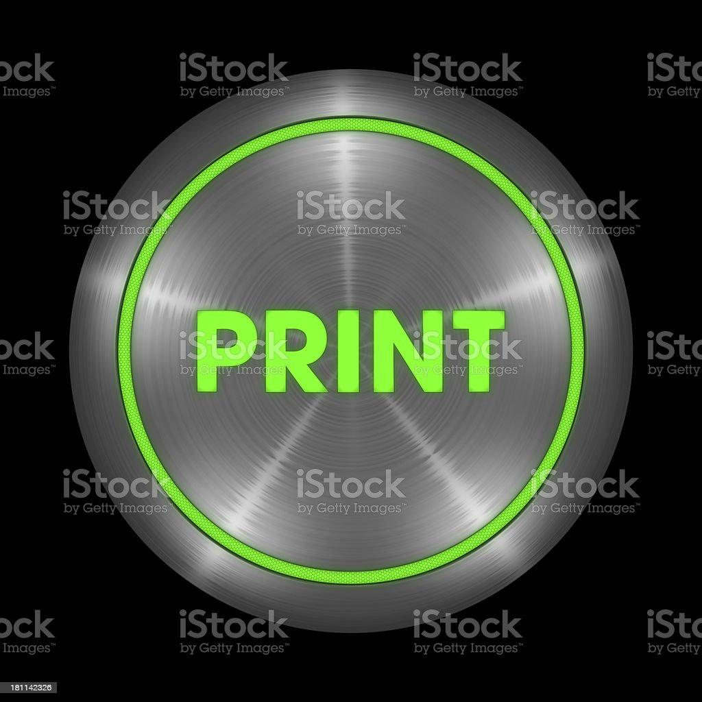 Print Button royalty-free stock photo