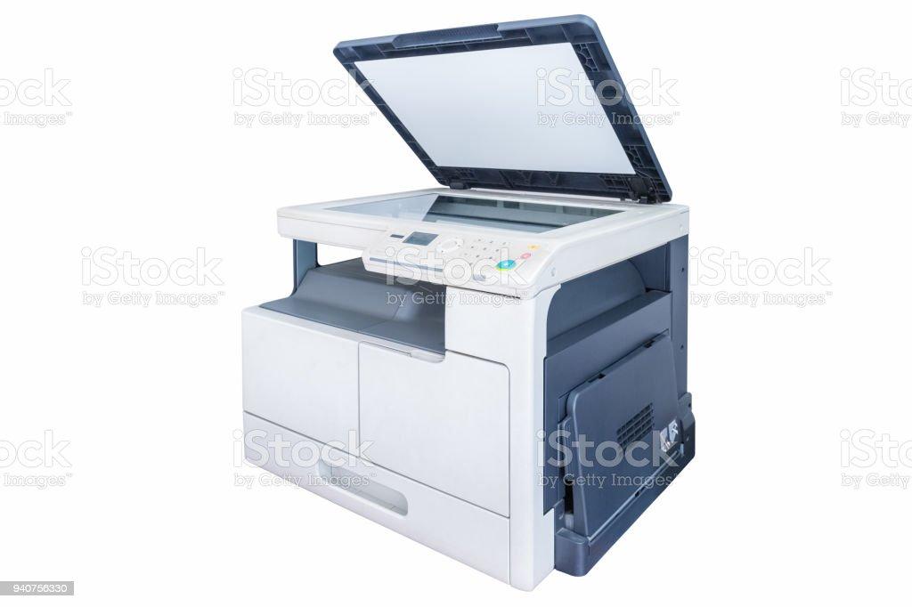 Druckunterlagen Maschine isoliert auf weiss – Foto