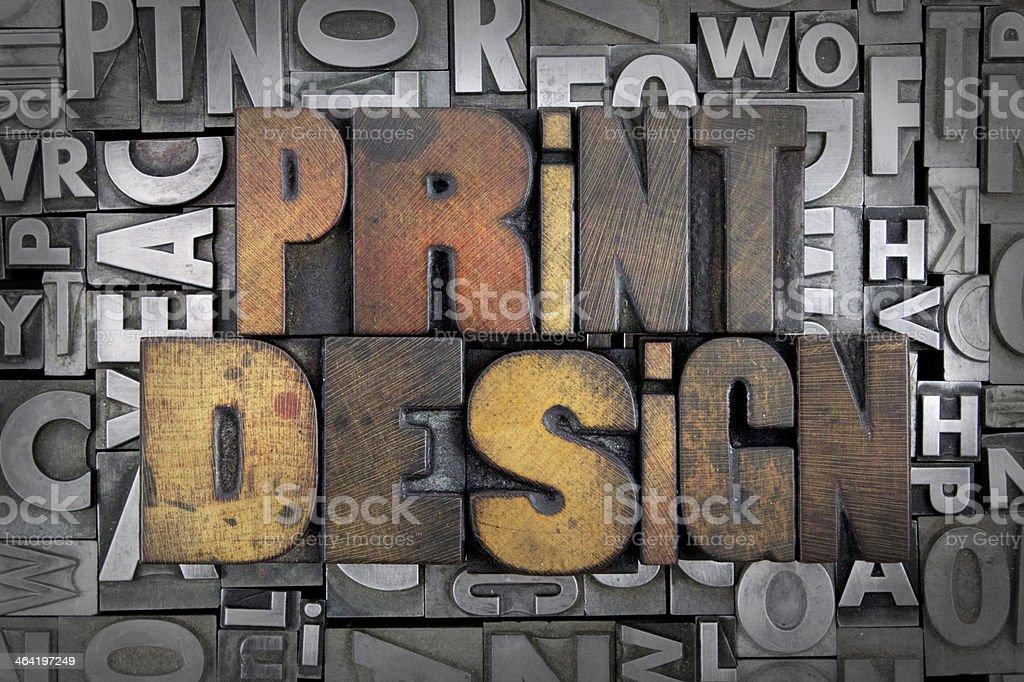 Print Design stock photo