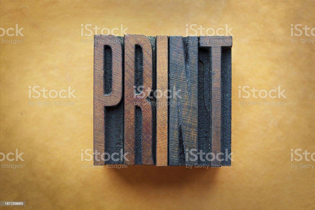 Print stock photo