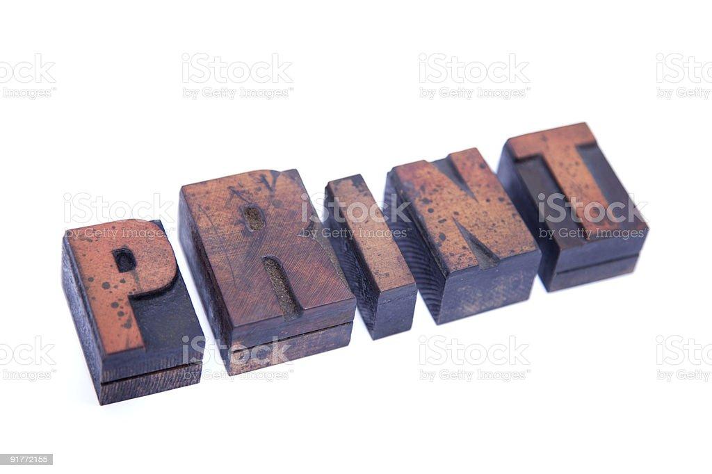Print... royalty-free stock photo