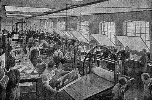 Print plant: copperplate printing