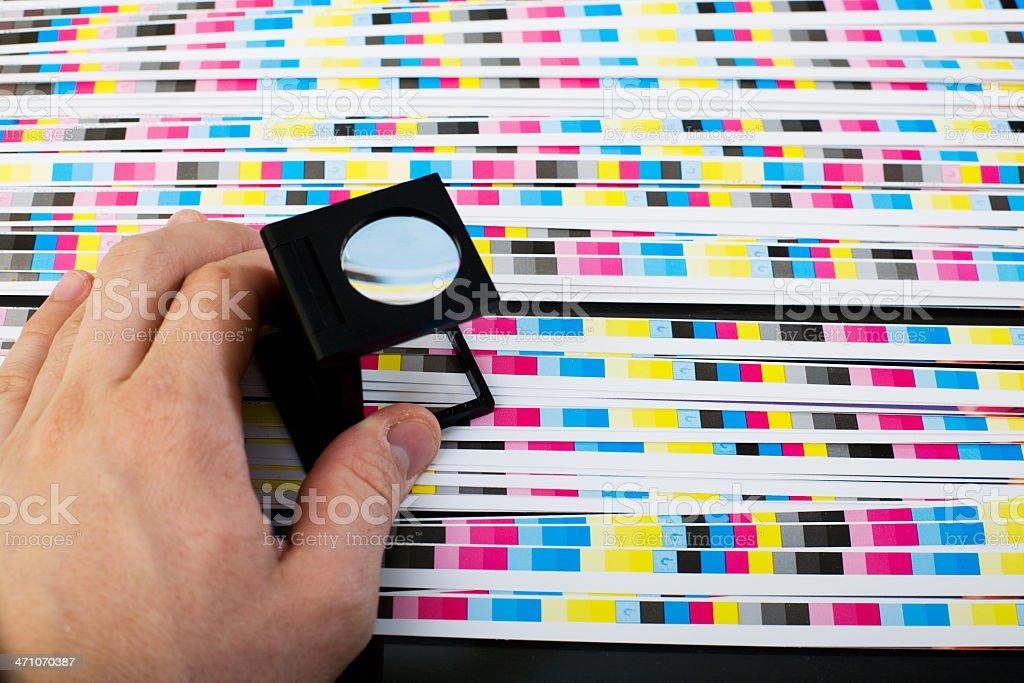 Muster Blatt Qualität-Farbe menagement – Foto