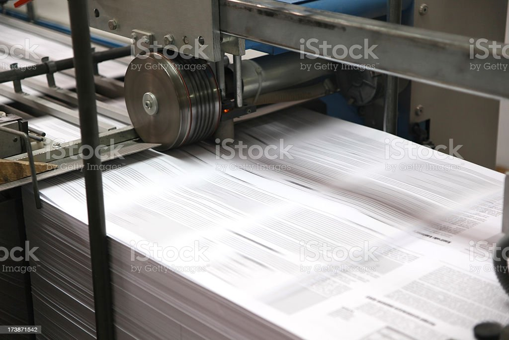 Print shop machine royalty-free stock photo