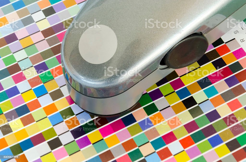 Print Spectrophotometer control unit stock photo