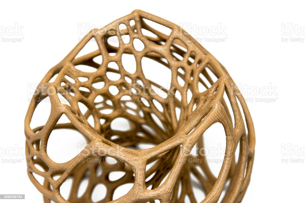 3d Printed Abstract Shape Stock Photo More Pictures Of 3d