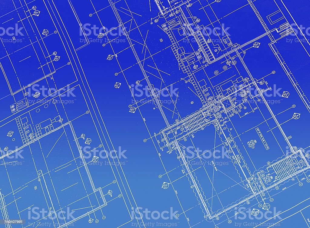 Printed Blueprint royalty-free stock photo