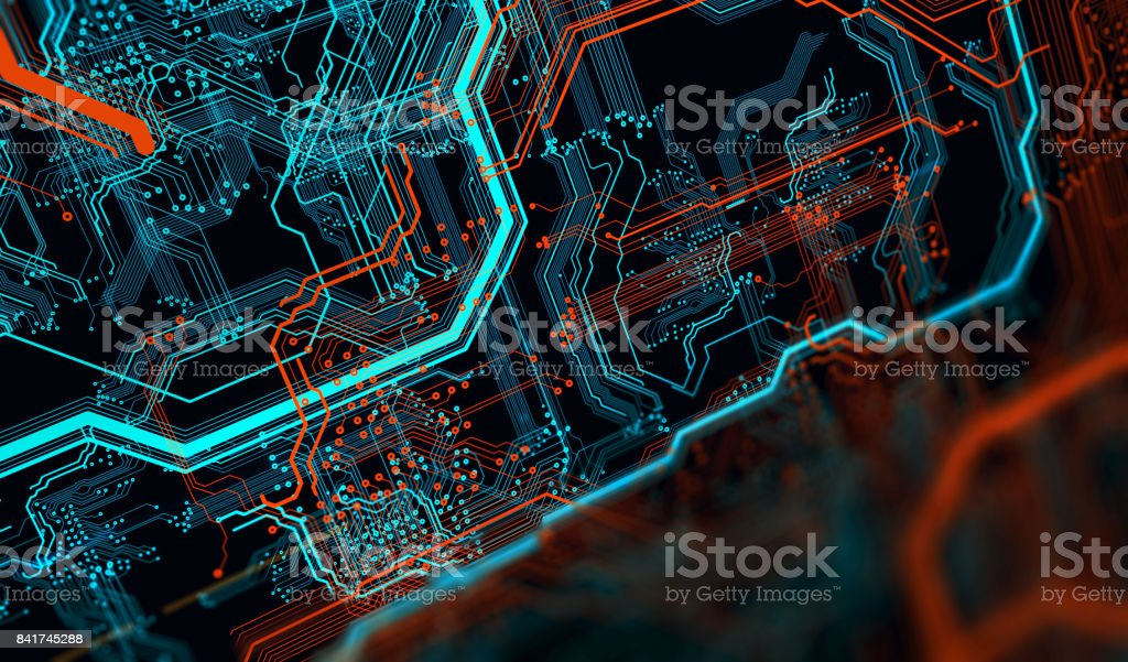 Printed circuit board in the server  executes the data. royalty-free stock photo