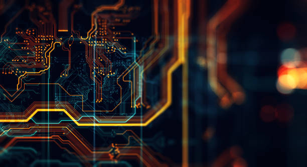 printed circuit board in the server  executes the data. - technology stock pictures, royalty-free photos & images