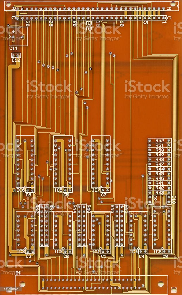 Printed Circuit Board royalty-free stock photo