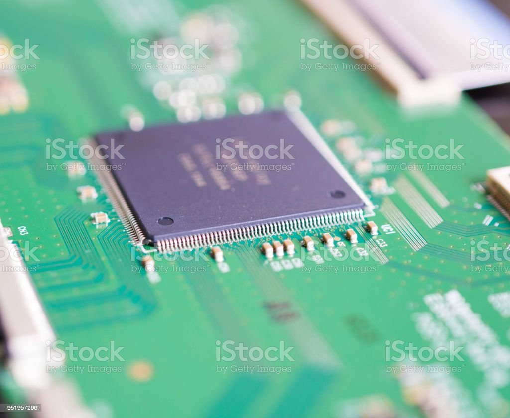 Printed Circuit Board With Electronic Elements Stock Photo More Is A Used In Electronics I Use It As Royalty Free
