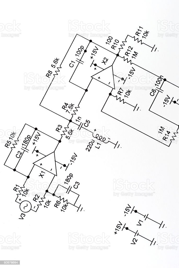 Printed Circuit Diagram royalty-free stock photo