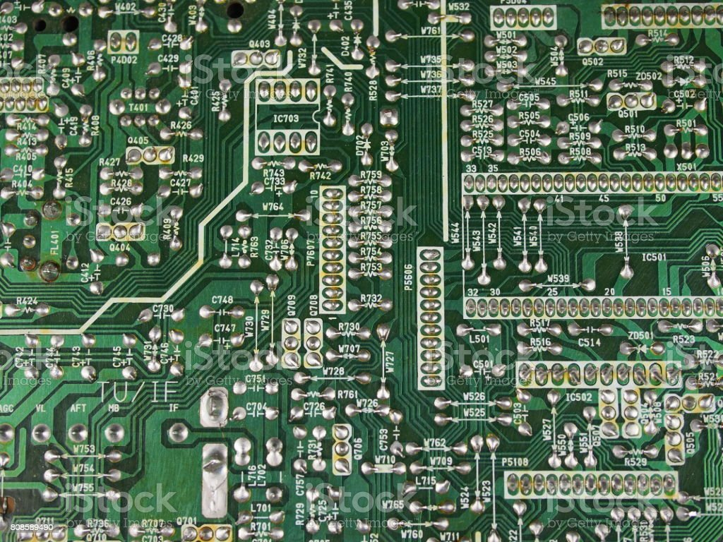Printed Circuits Stock Photo More Pictures Of Business Finance And Control Circuit Power Free Electronic 8085 Royalty