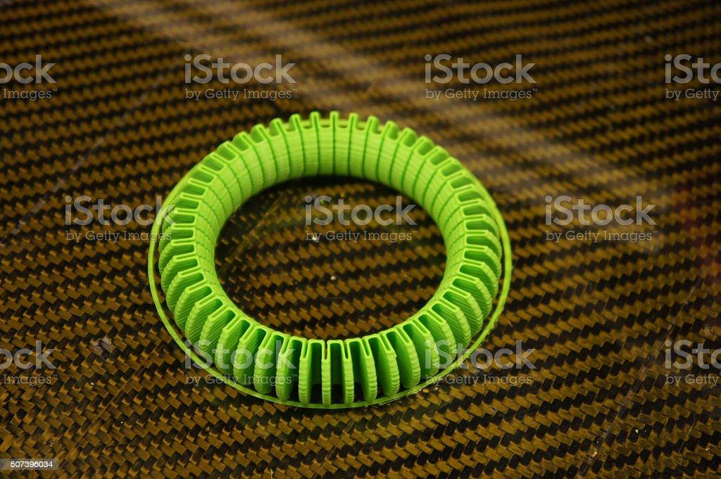 3d Printed Flexible Bracelet Stock Photo - Download Image