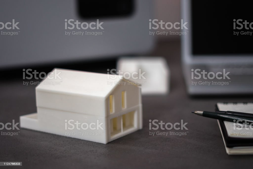 3D printed house stock photo