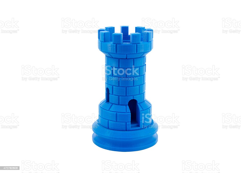 3D Printed Model Of A Castle bildbanksfoto