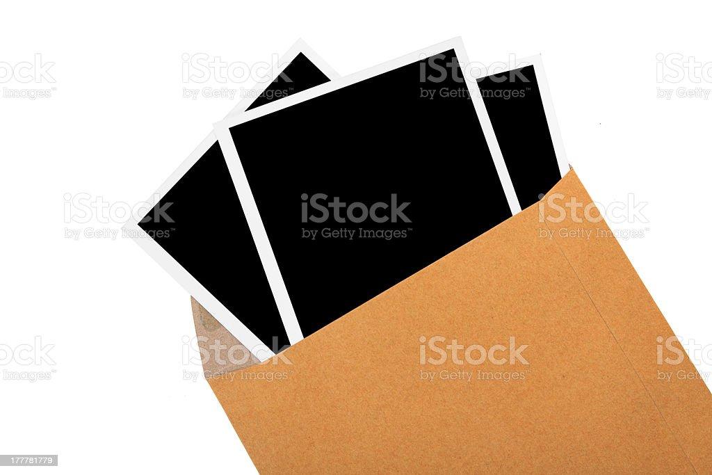 Aufgedrucktes Bild Bilder in brown Hüllen – Foto