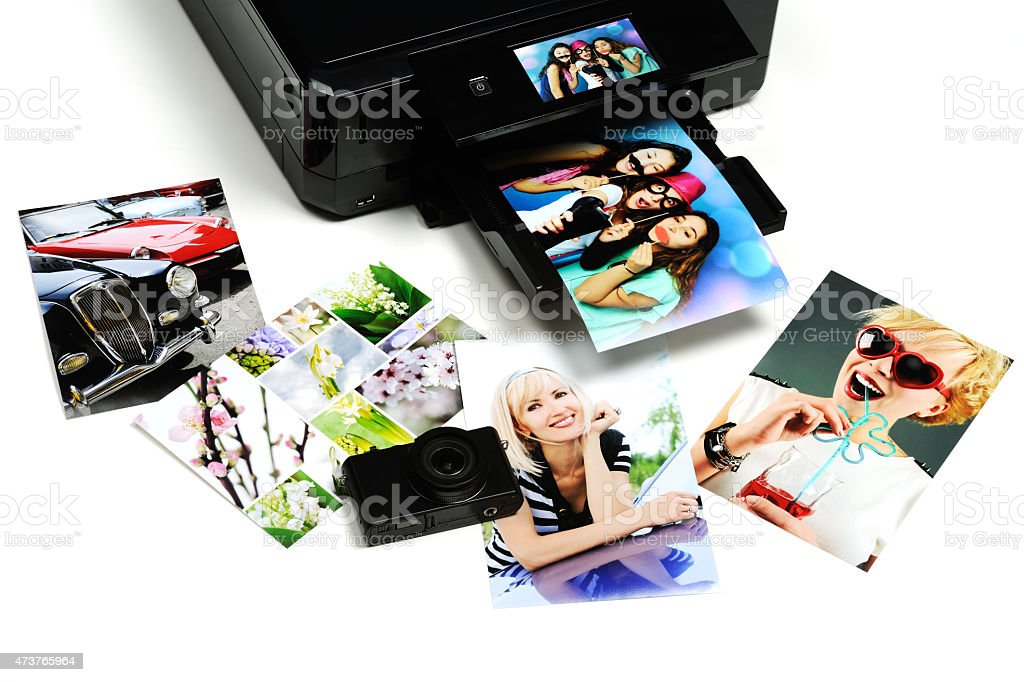 printed photos stock photo
