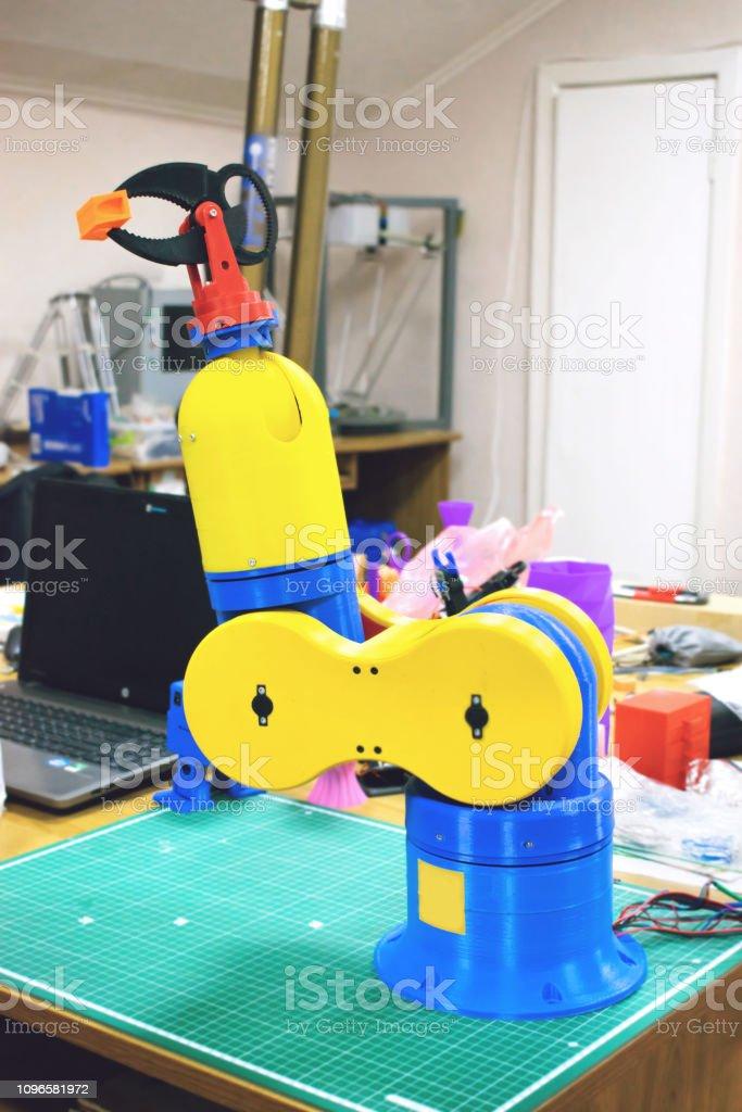 3d Printed Robot Clamp Arm Holder Plastic Manipulator