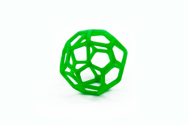 3D Printed Sphere Shaped Object stock photo