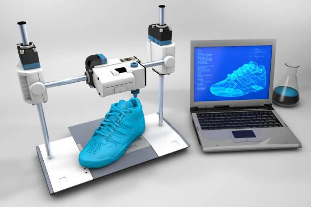 3D gedrucktsportSportschuh – Foto