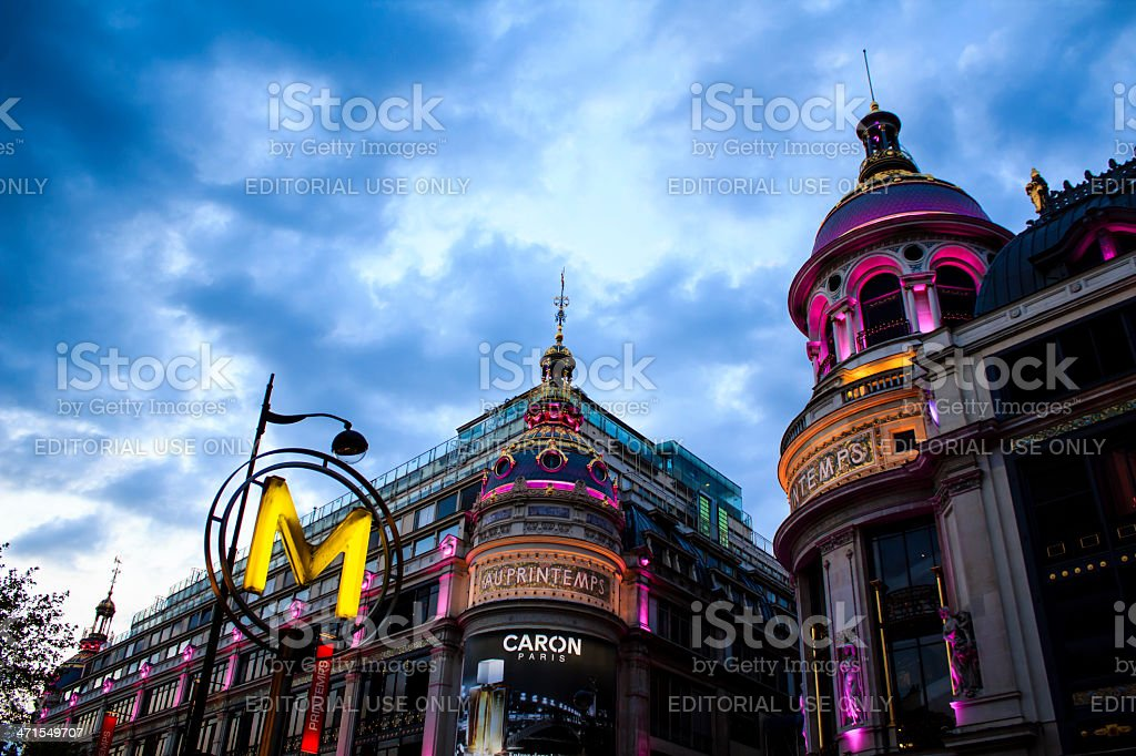 Printemps department store, Paris royalty-free stock photo
