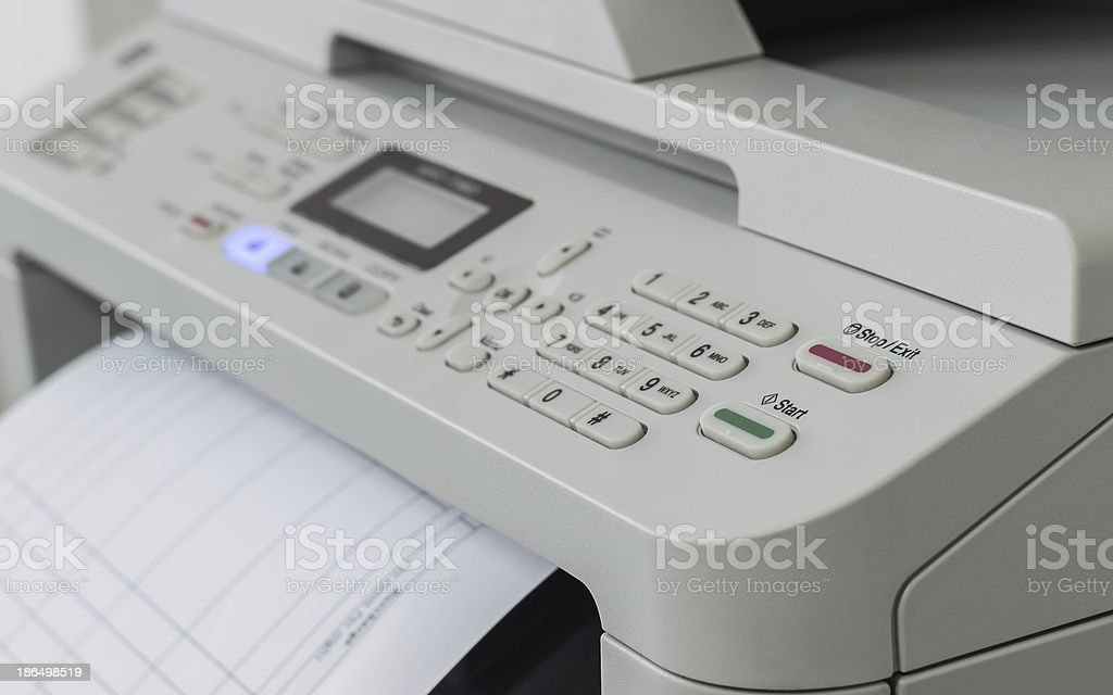 printer and copying machine royalty-free stock photo