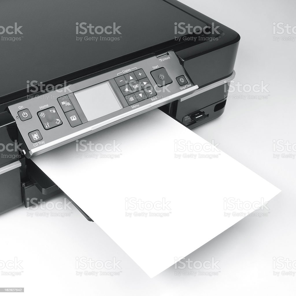 Printer and Scanner stock photo