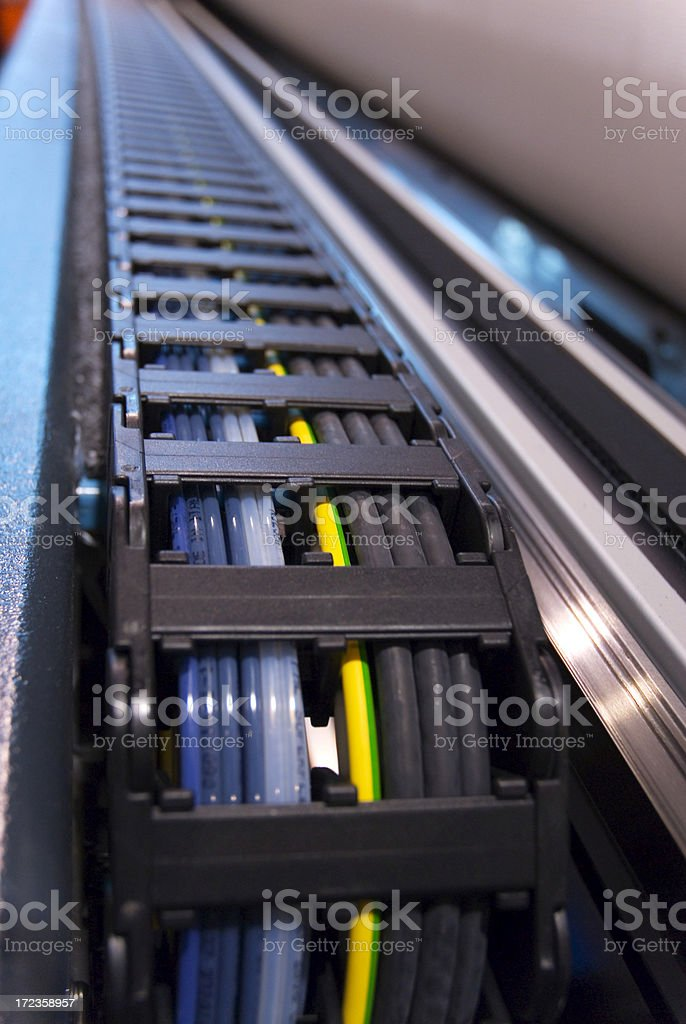 Printer cable royalty-free stock photo