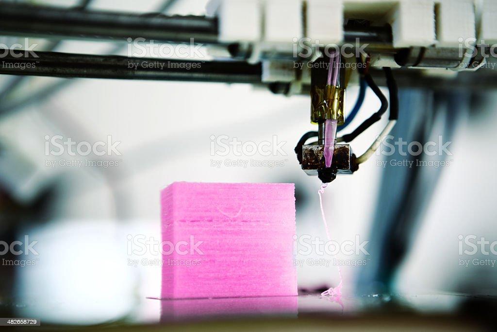 3D printer detail bildbanksfoto
