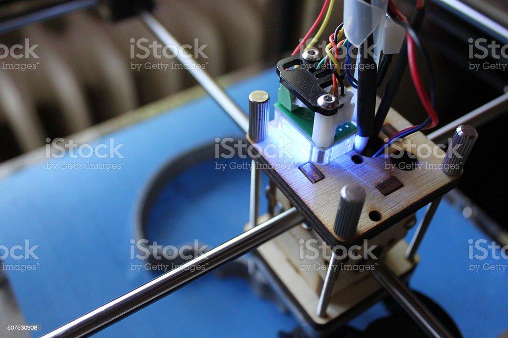 3D printer head stock photo