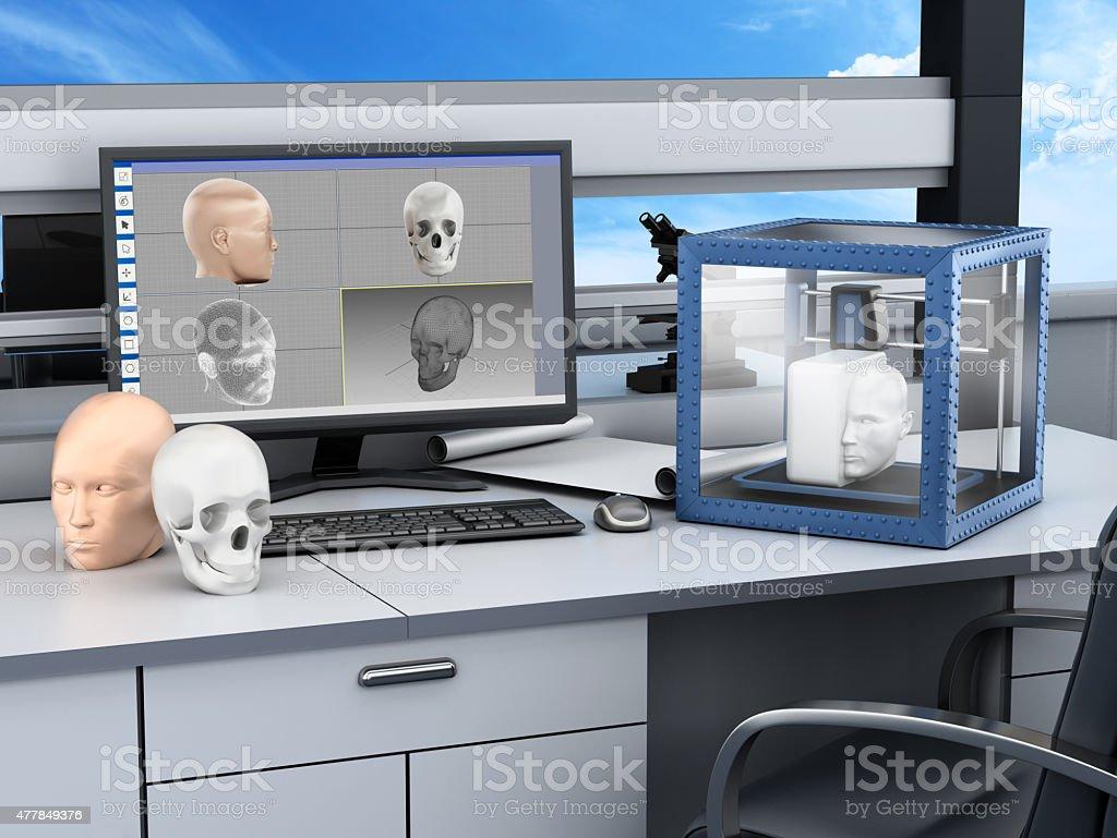 3D printer in a laboratory stock photo