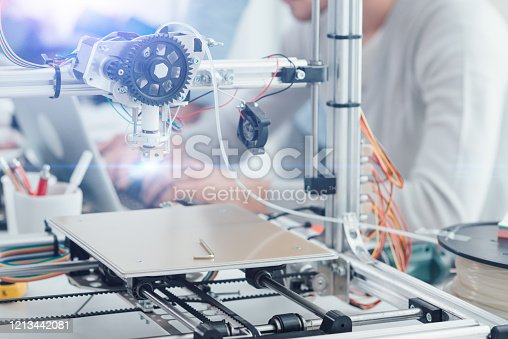 886646936 istock photo 3D printer in the laboratory 1213442081