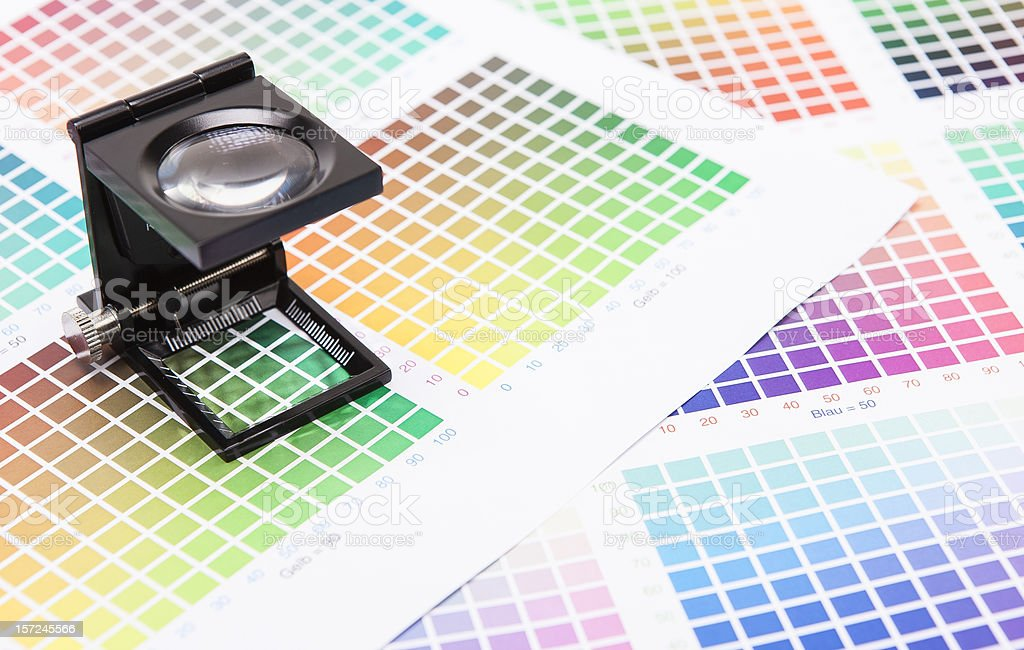 Printer Measurement stock photo