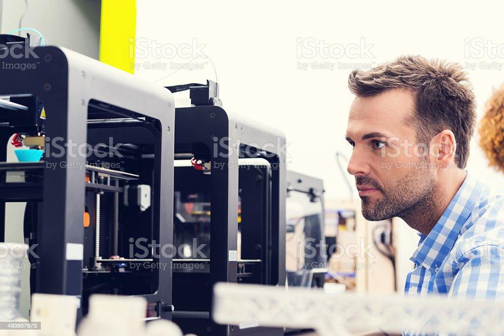 3 D printer oficina - foto de stock