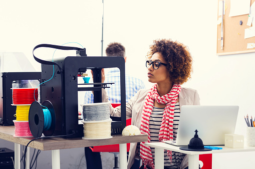 3d Printer Office Stock Photo - Download Image Now