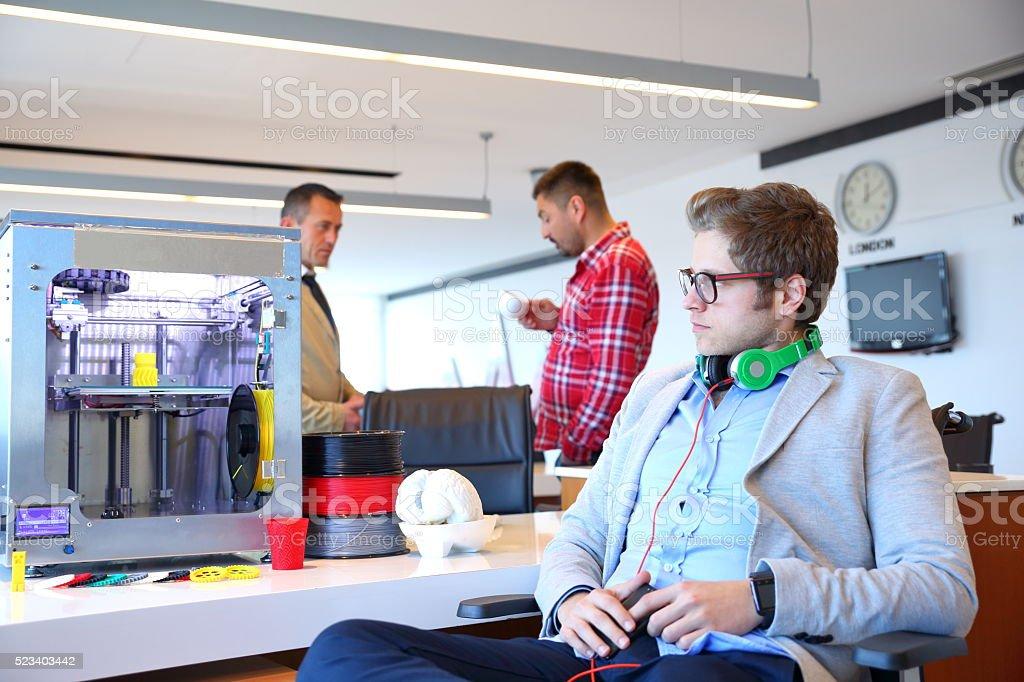 3D printer office bildbanksfoto