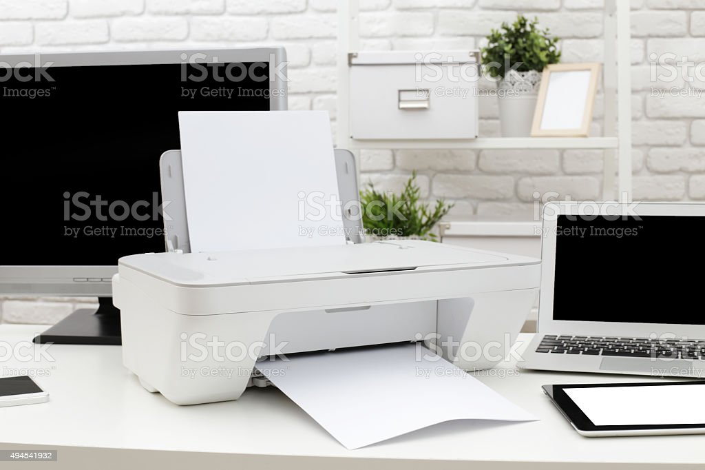 Printer stock photo