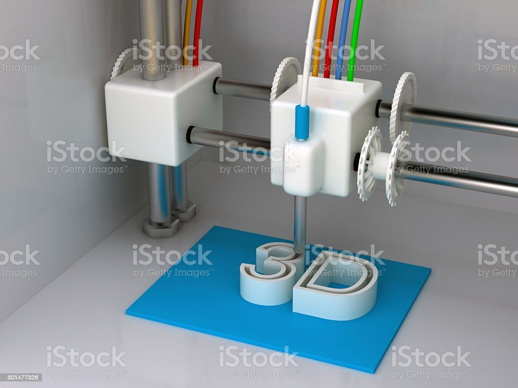 3D Printer stock photo