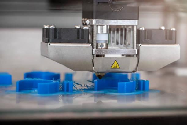 3D Printer Printing Biomedical Prototypes stock photo