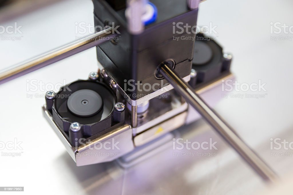 3 D impresora impresión - foto de stock
