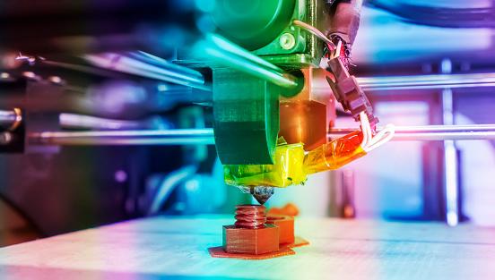 3d Printer Printing Prototypes Stock Photo - Download Image Now