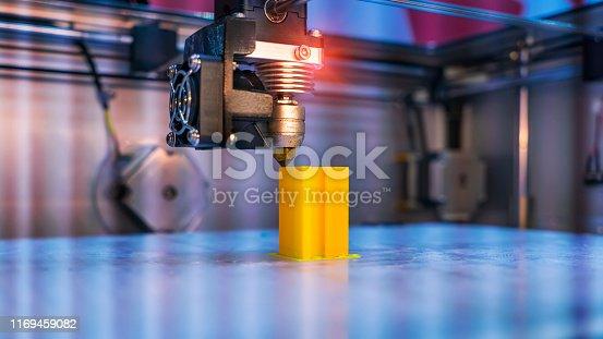 3D Printer Printing Prototypes